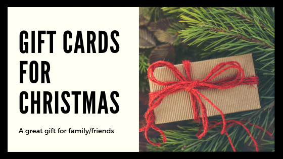 Gift Cards Make Great Christmas Gifts