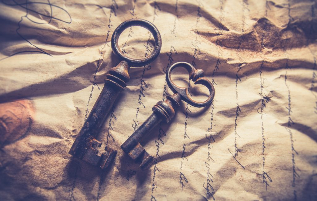 Antique Keys and Paper